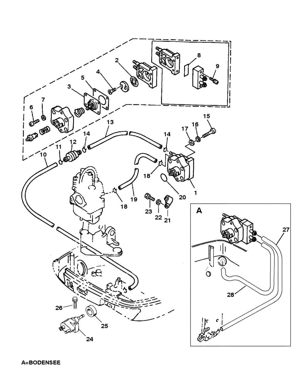 medium resolution of fuel pump for mariner mercury 9 9 8 bondensee 4 stroke 1996 mercury marine mercury outboard 1f10203sd fuel pump diagram and