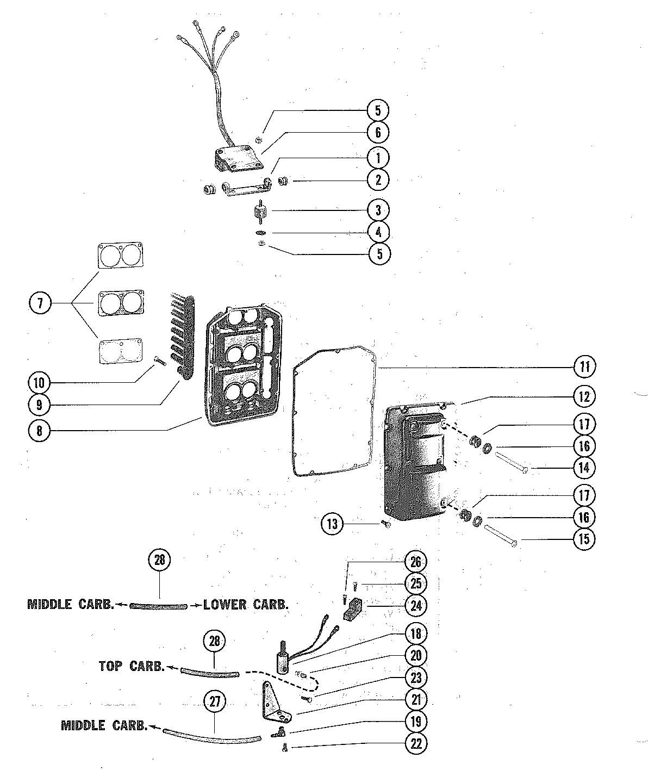 ENRICHER VALVE AND SOUND ATTENUATOR FOR MERCURY MERC V-225
