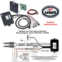 boat trim tabs wiring diagram copper atom lenco waterproof tab led indicator switch kits
