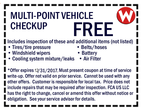 Chrysler Dodge Jeep Ram Service Specials Amp Coupons Oil
