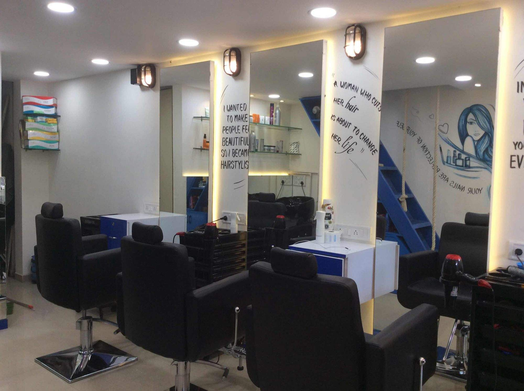 Hair Mechanic Uni Salon Nail Art Studio Kandivali West Salons In Mumbai Justdial