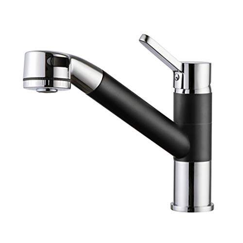 alton tsl18015 brass single lever kitchen sink mixer with pull out and pull down sprayer and 360 swivel spout kitchen sink tap black