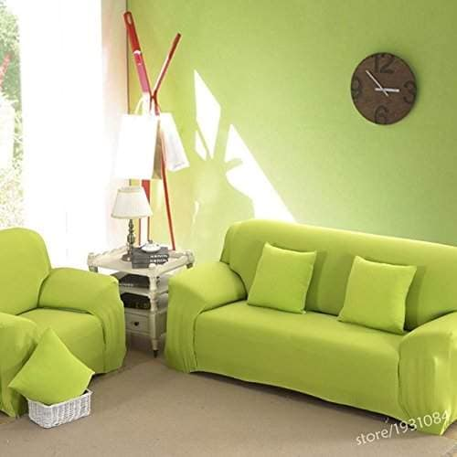 petsdelite green two seater sectional couch covers l shaped sofa cover elastic universal wrap the entire sofa slipcover solid co