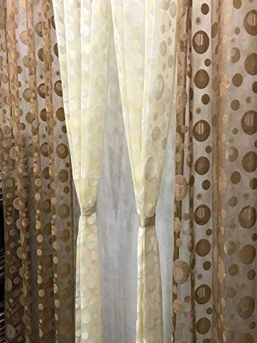 kk home store decor tissue net long door curtains set of 4 imported tissue net fabric curtains window 4 x 7 ft multi