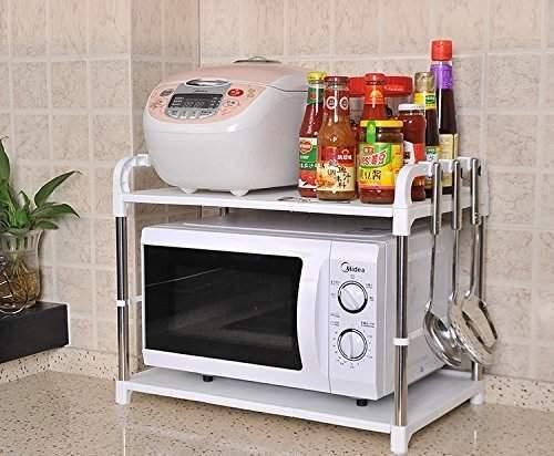 novicz microwave oven rack kitchen shelf kitchen storage rack for oil spices and kitchen accessories