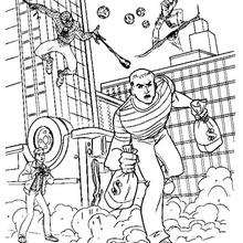 Spider Man With Ghost Rider Page Coloring Pages