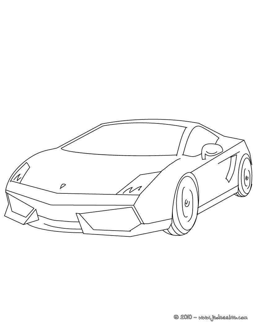 Coloriage Lamborghini Gallardo Gratuit