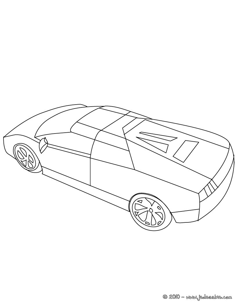 Lamborghini Murcielago Roadster A Colorier
