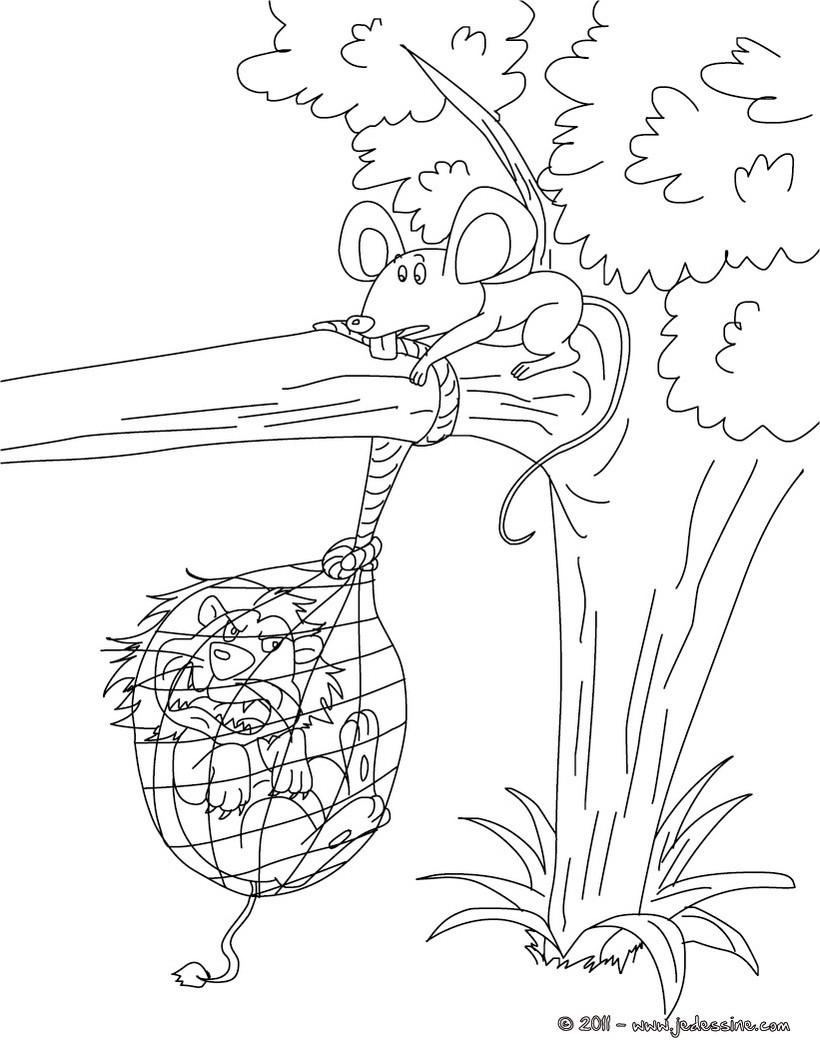 Dessin Le Lion Et Le Rat : dessin, Coloriages, Coloriage, Fr.hellokids.com