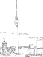 Coloriages coloriage de la fernsehturm à berlin   fr ...