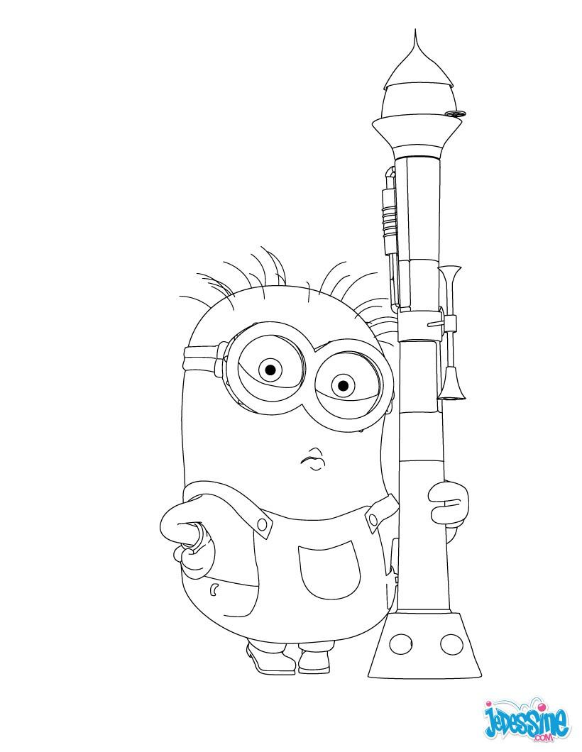 Comment Dessiner Un Minion : comment, dessiner, minion, Coloriages, Coloriage, Gratuit, Minion, Fr.hellokids.com