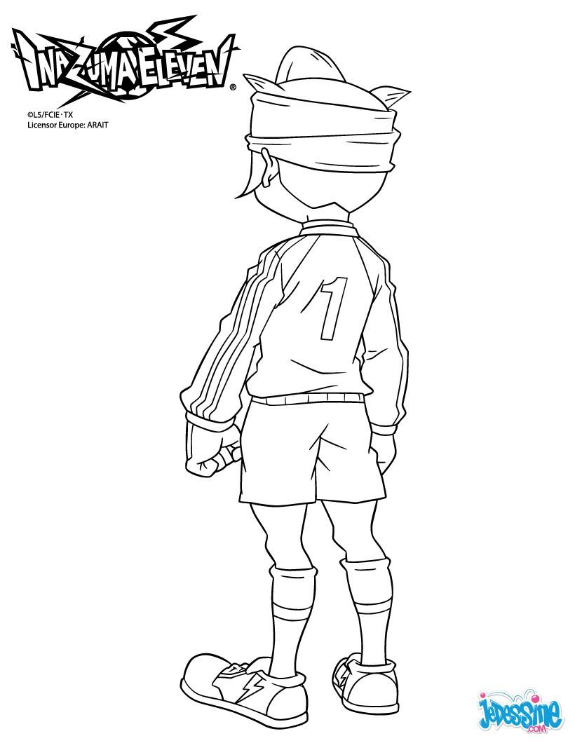 C Coloriage Coloriage Dessins Animes Coloriage Inazuma Eleven Jude