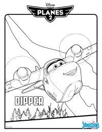 Coloriages planes 2 - dipper - fr.hellokids.com