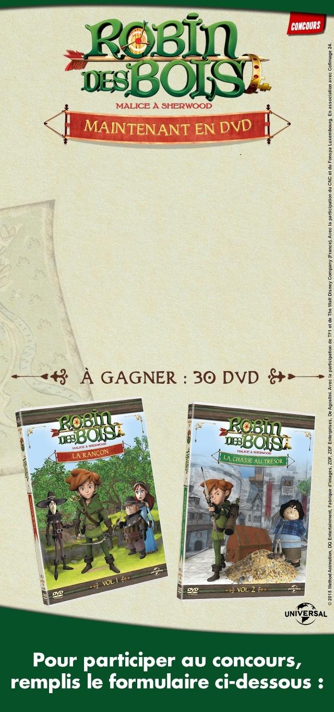Gagne des DVD de Robin des Bois, malice à Sherwood !
