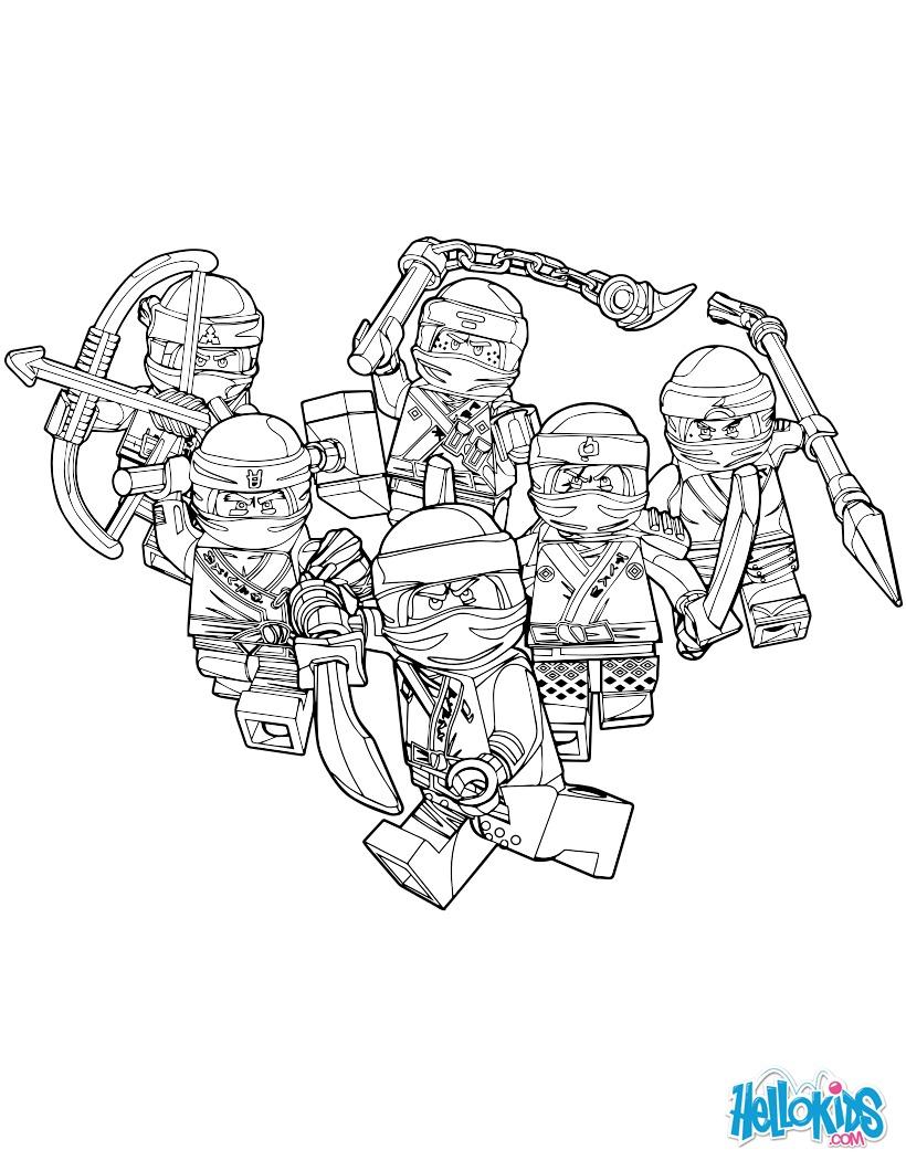 dessin à imprimer: Dessin Lego Ninjago Vert A Imprimer