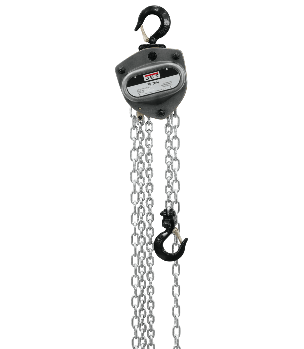 L100-50WO-10 1/2T HOIST WITH OVERLOAD PROTECTION AND 10' LIFT