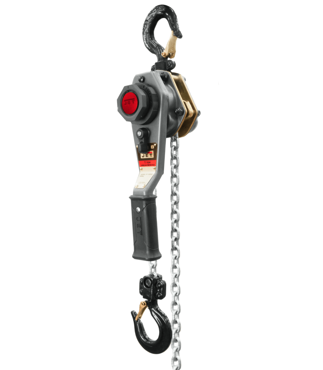 JLH Series 1 Ton Lever Hoist, 10' Lift with Overload