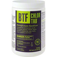 B-T-F Chlor-Tab Sanitizer - 100 Tablets | Lorenz Supply Co
