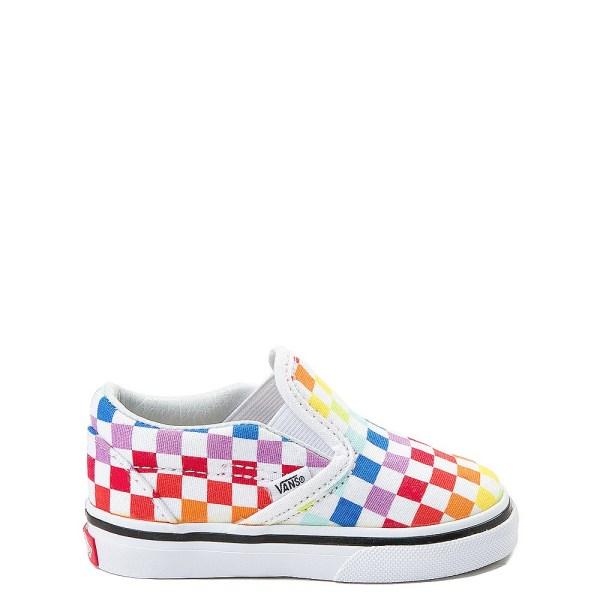 Toddler Vans Slip Rainbow Chex Skate Shoe Journeys