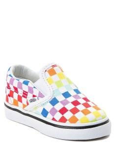 Alt also toddler vans slip on rainbow chex skate shoe journeys rh