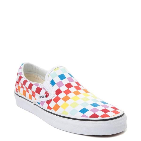 Vans Slip Rainbow Chex Skate Shoe Journeys