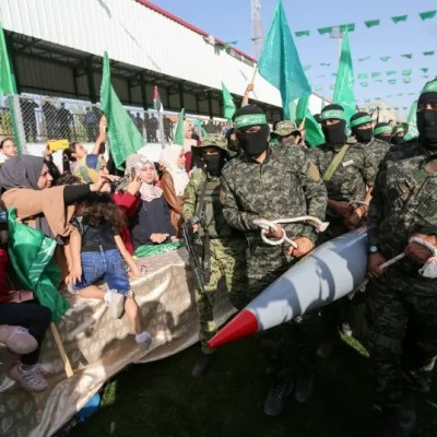 Hamas parades drones and missiles, showing 'achievements'