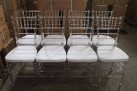 Clear & White Resin Tiffany Chairs For Sale & Hire ...