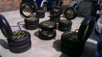 Patio & Garden Tyre Chairs.