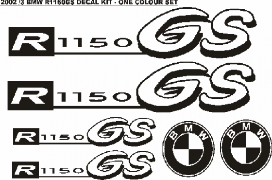 Decals stickers graphics kits for all year models off BMW