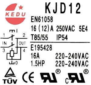 A.C.-insert switch Kedu KJD12-10ZF