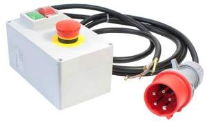 Threephase motorstarter 400 V with emergency stop button