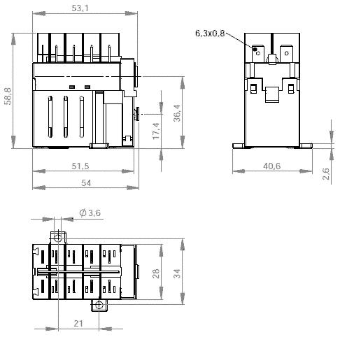 Contactor Klinger&Born KB-04/230/ 3 N/O, 1 N/C, Mod.Nr
