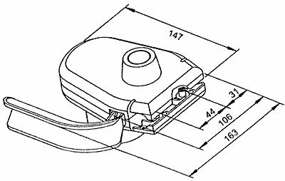 Tripus lawn mower switch for handlebar mounting (deadman