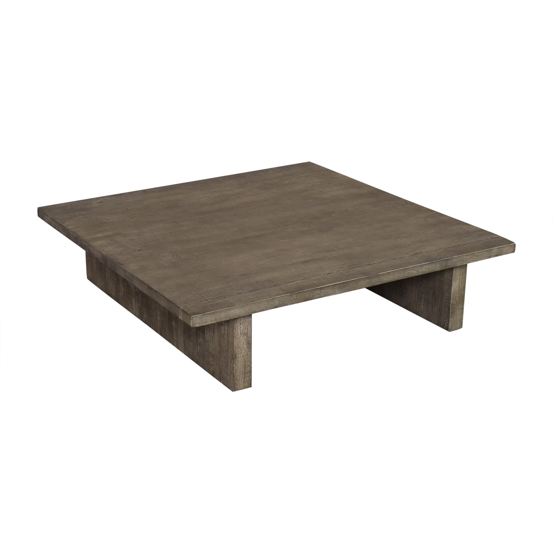 77 off restoration hardware restoration hardware reclaimed russian oak plank coffee table tables