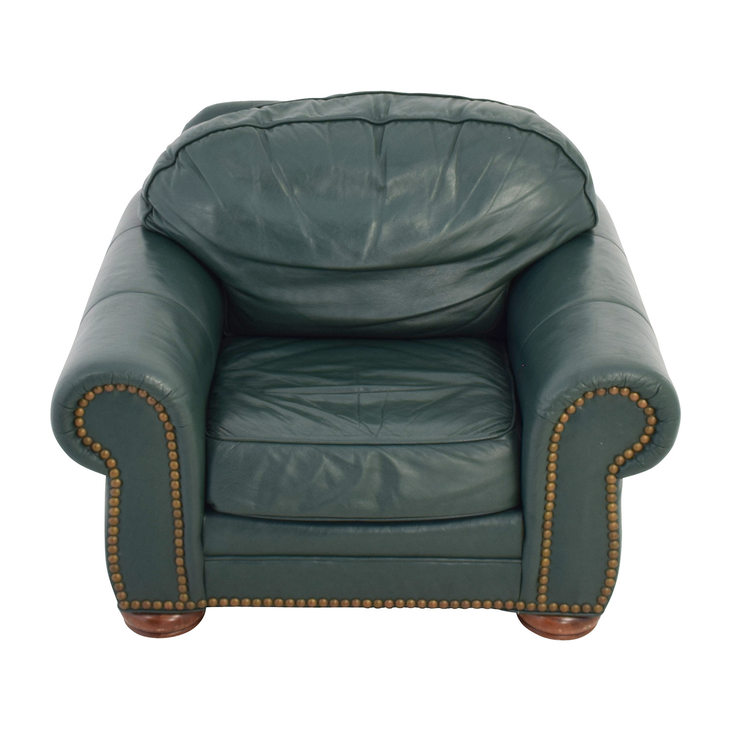 Merveilleux 65 Off Clayton Marcus Clayton Marcus Oversized Green Leather Chair Chairs