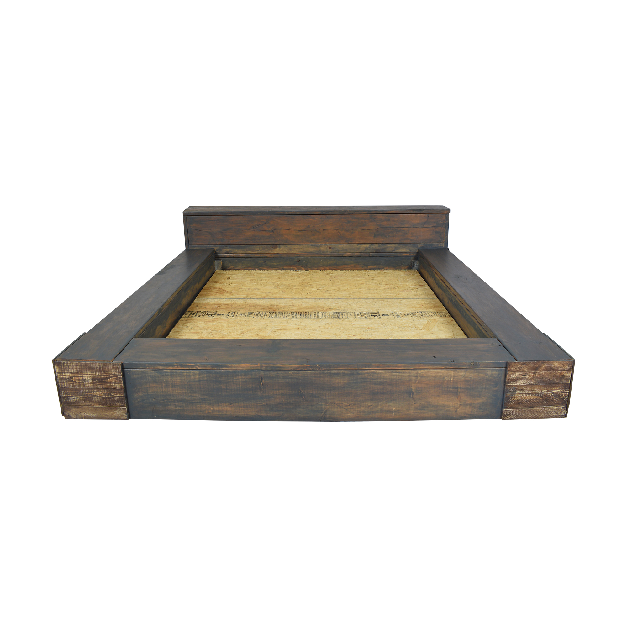 85 Off Reclaimed Wood King Bed With Headboard Storage Beds