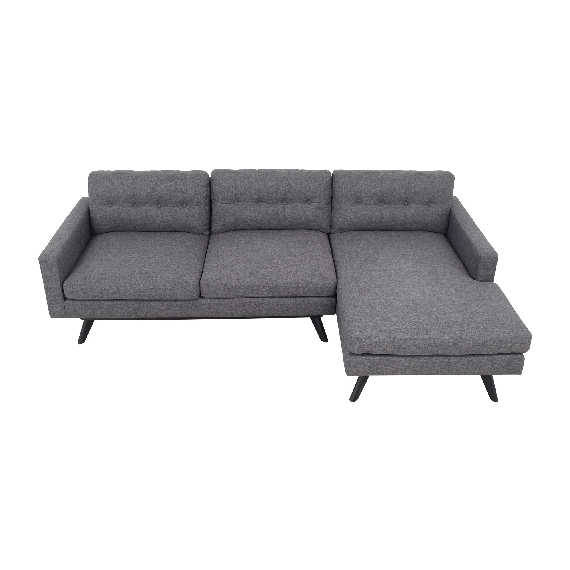 44 off mid century modern chaise sectional sofa sofas
