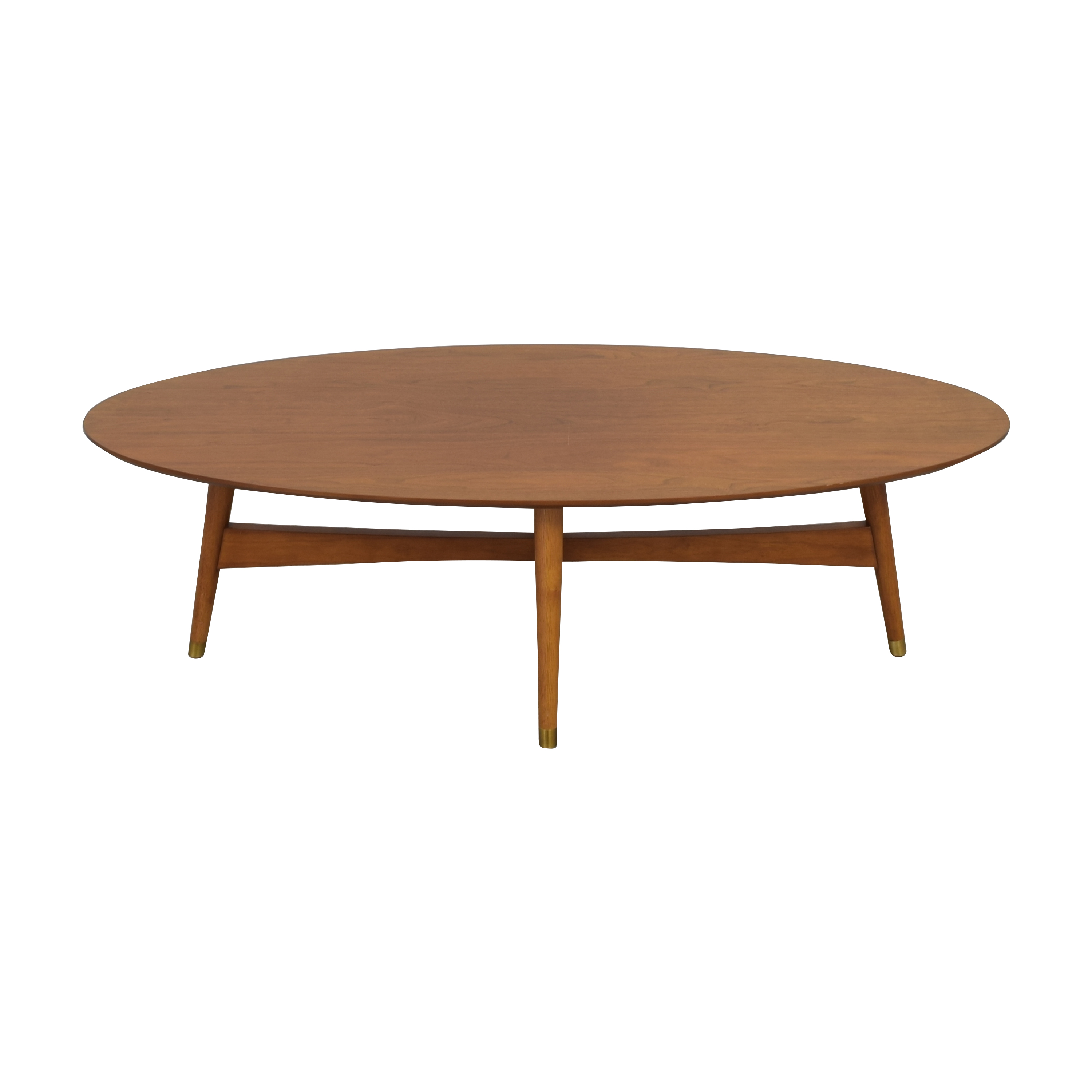 25 off west elm west elm reeve mid century oval coffee table tables