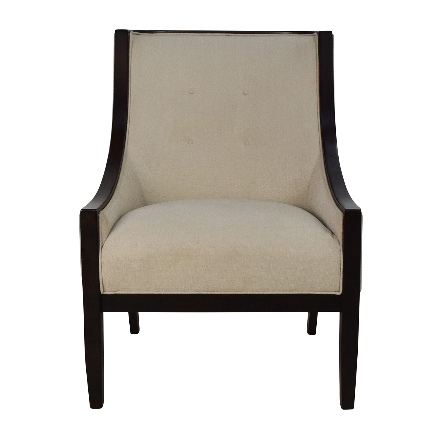 Tufted High Back Chair 87 Off Bloomingdale S Bloomingdale S Tufted Cream High Back