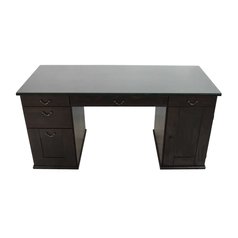 65 Off Ikea Ikea Glass Top Office Desk Tables