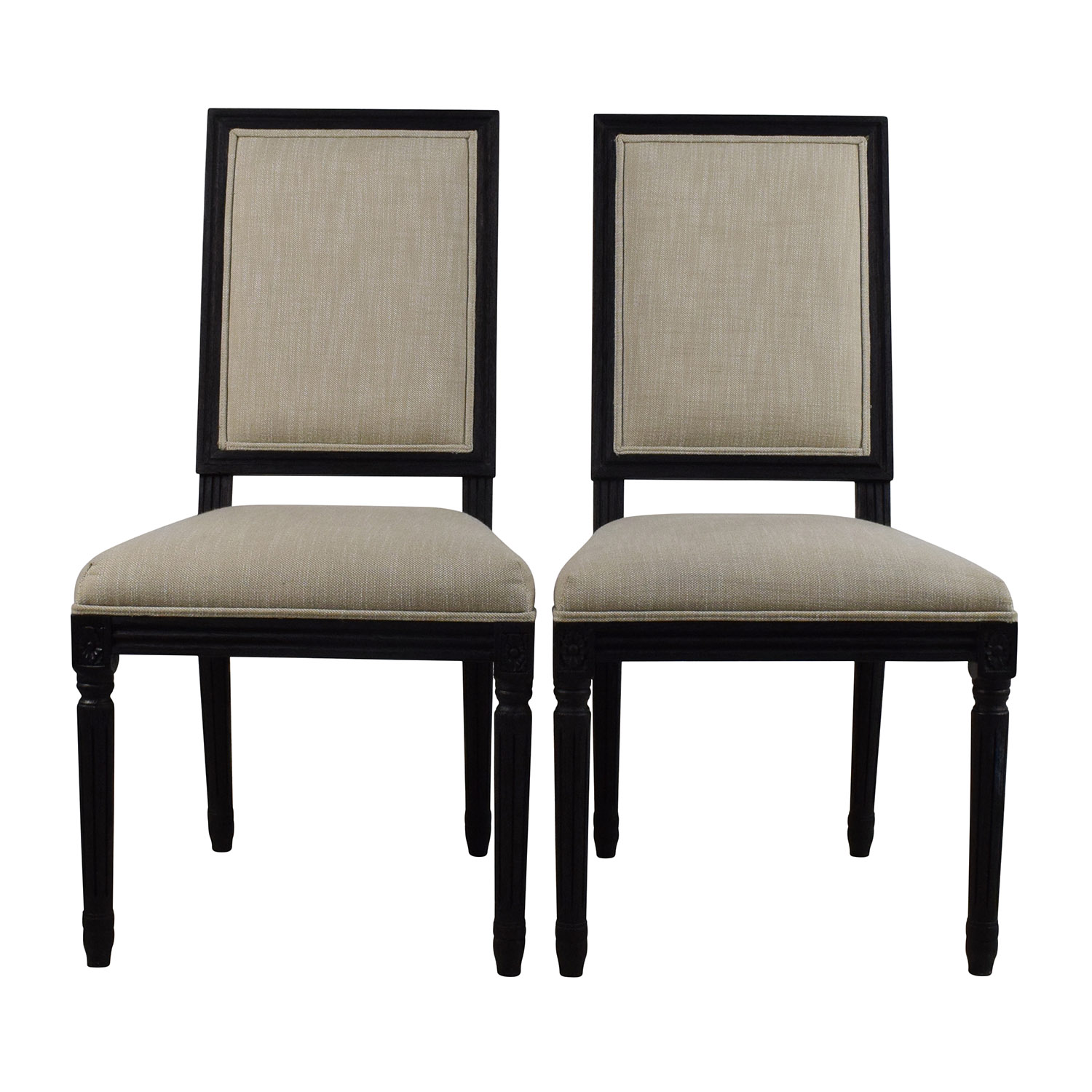 Restoration Hardware Dining Chairs 68 Off Restoration Hardware Restoration Hardware Pair Of Vintage French Square Fabric Chairs Chairs