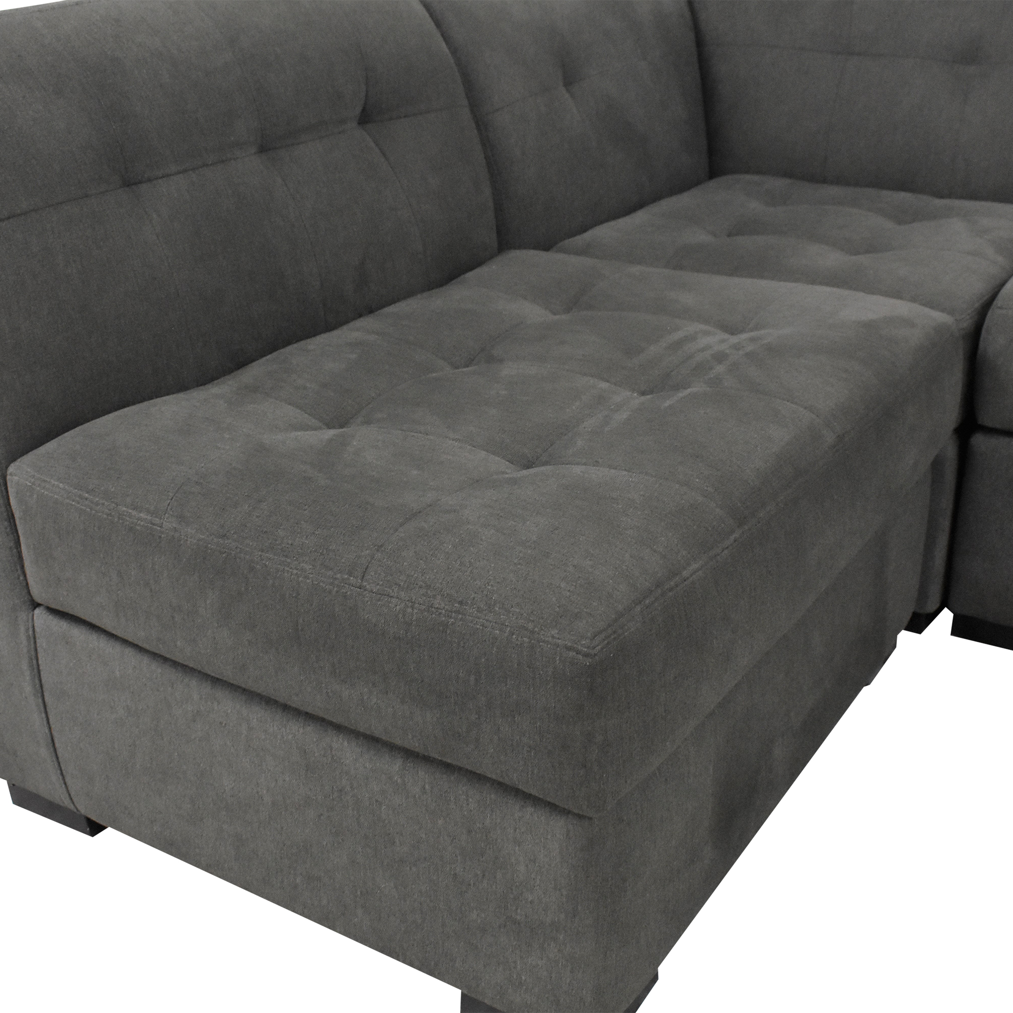 29 off macy s macy s tufted sectional sofa and ottoman sofas