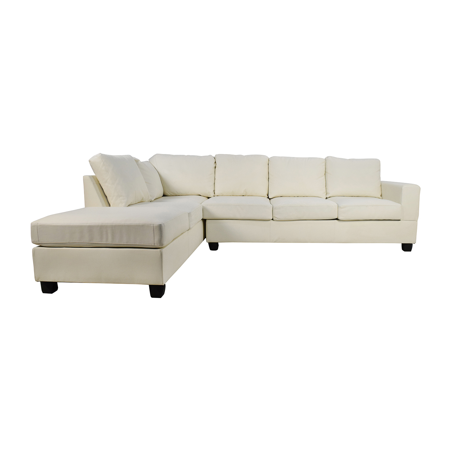 45 off l shaped white leather sectional sofas