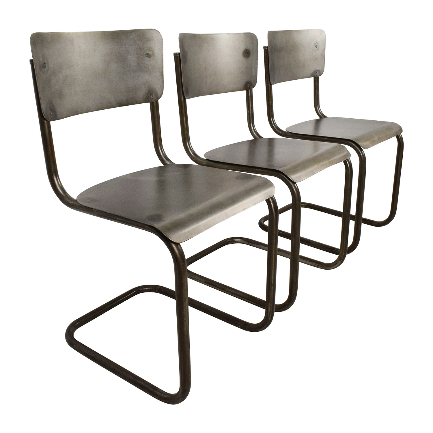 Metal Chairs 68 Off Industrial Style Metal Chair Set Chairs
