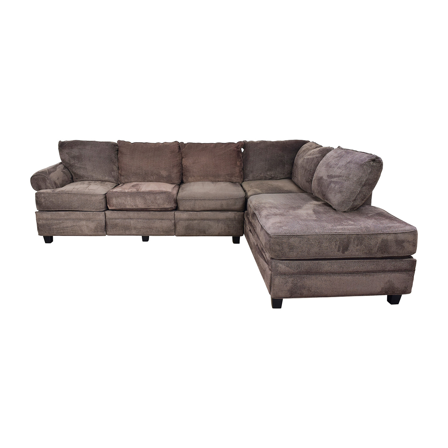 55 off bob s discount furniture bob s furniture brown sectional with storage sofas