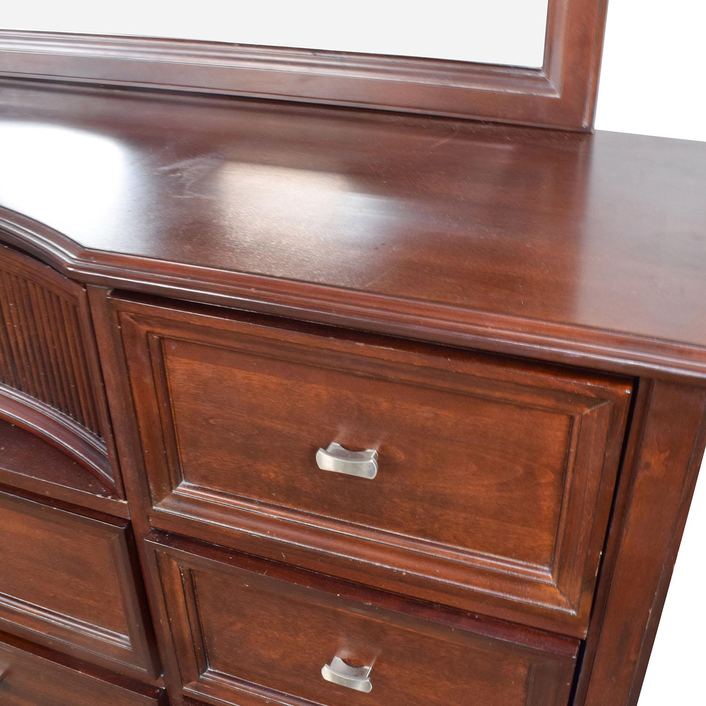 58 off bob s discount furniture bob s furniture cherry wood dresser with mirror storage