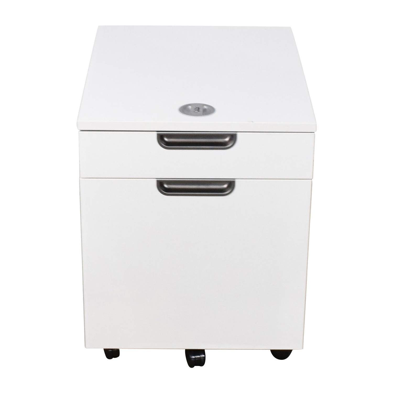 82 Off Ikea Ikea Galant White Combination Lock File Cabinet Tables