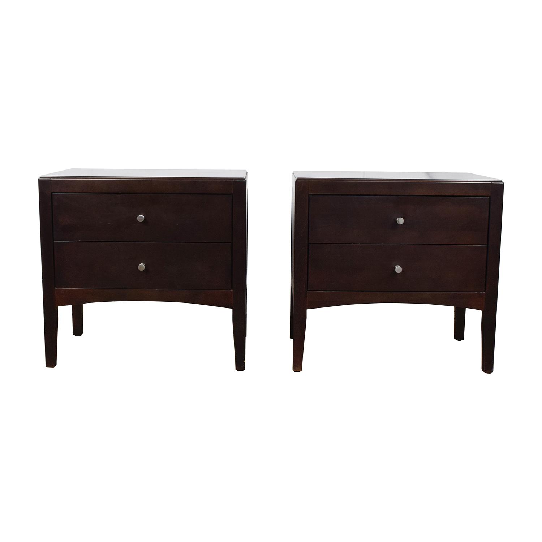 44 off macy s macy s dark wood two drawer nightstands tables