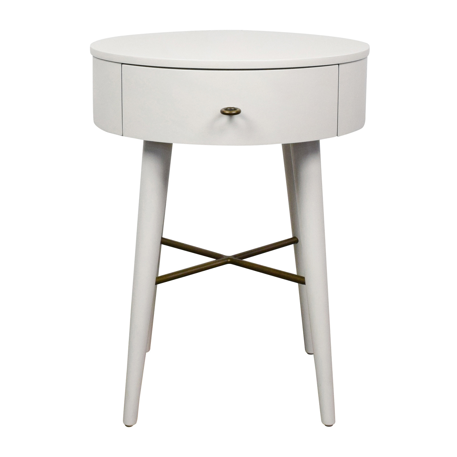 61 Off West Elm West Elm Penelope White Round Nightstand Tables