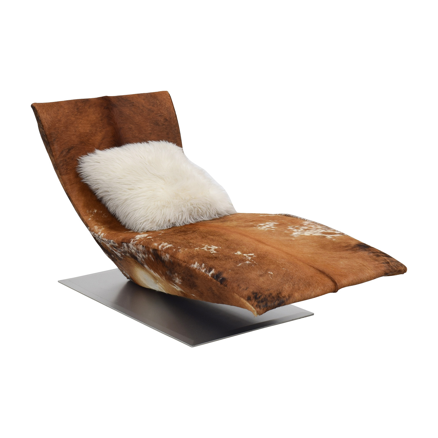 Cow Hide Chair 44 Off Leather Cow Hide Accent Chaise Chair Chairs